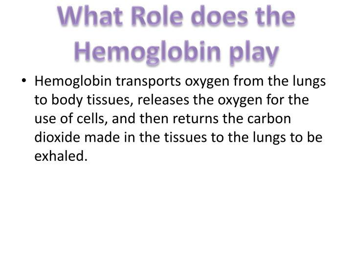 What Role does the Hemoglobin play