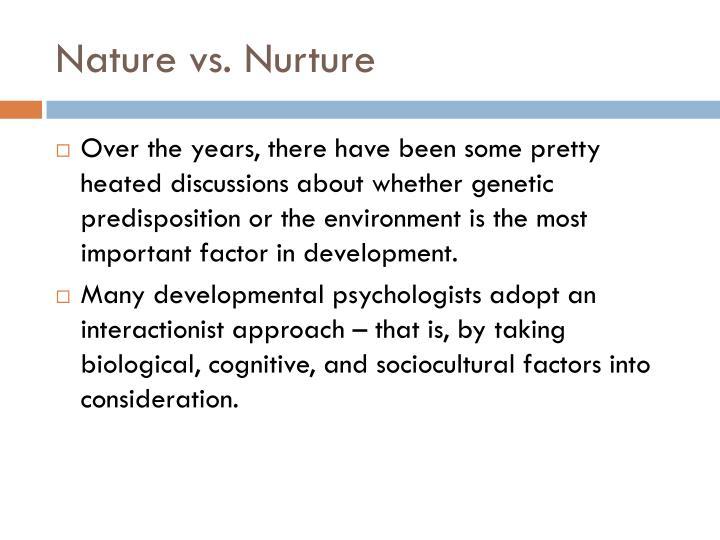 Nature Vs Nurture Study Homosexuality