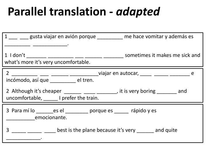 Parallel translation -