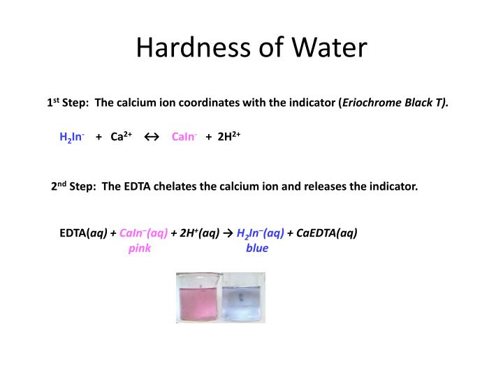 water hardness determination Many industrial and domestic water users are concerned about the hardness of their water hard water requires more soap and synthetic detergents for home laundry and washing, and contributes to scaling in boilers and industrial equipment hardness is caused by compounds of calcium and magnesium, and.
