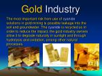 gold industry
