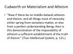cudworth on materialism and atheism
