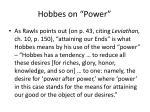 hobbes on power