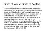 state of war vs state of conflict