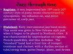 jazz through time