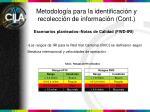 metodolog a para la identificaci n y recolecci n de informaci n cont