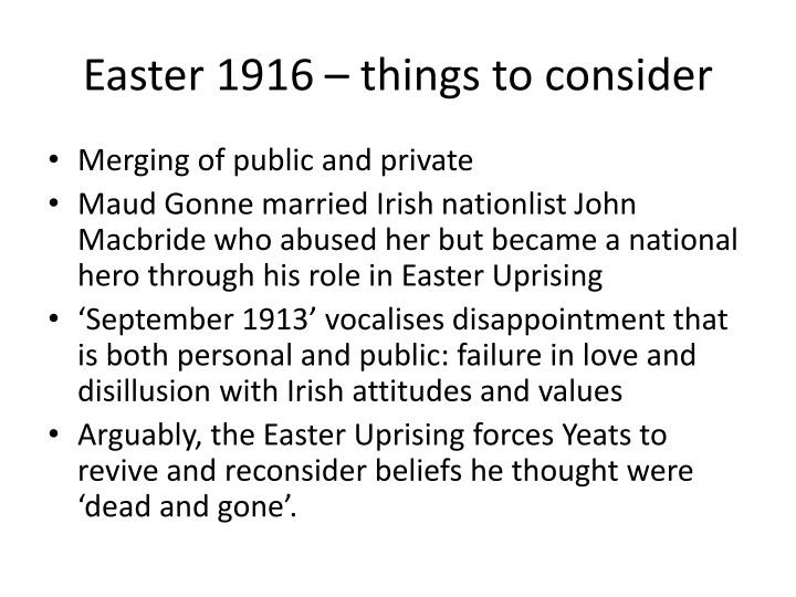 Easter 1916 – things to consider