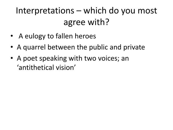 Interpretations – which do you most agree with?
