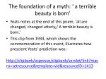 the foundation of a myth a terrible beauty is born