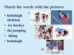 match the words with the pictures1