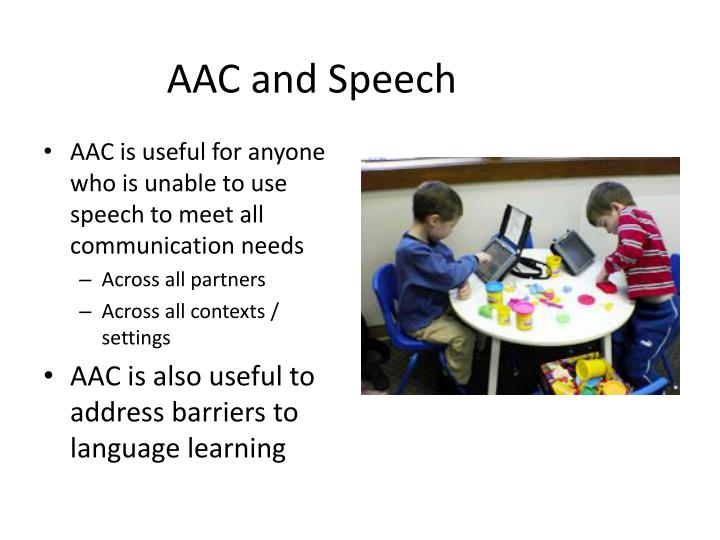 Aac and speech