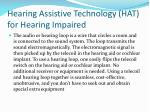 hearing assistive technology hat for hearing impaired