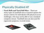 physically disabled at