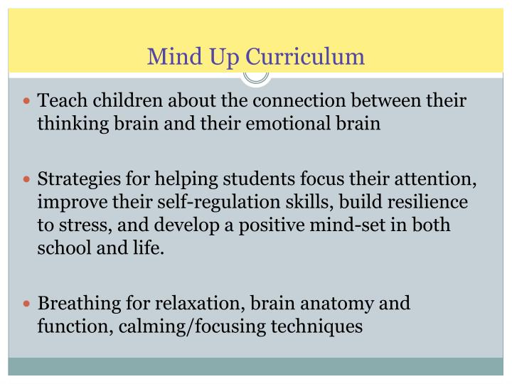 Mind Up Curriculum