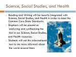 science social studies and health