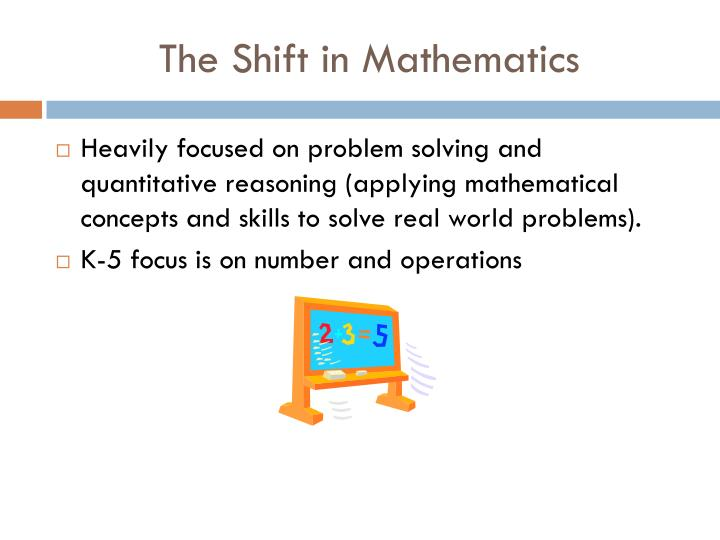 The Shift in Mathematics