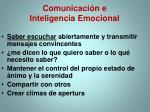 comunicaci n e inteligencia emocional