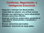 conflictos negociaci n e inteligencia emocional