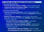 8 1 nervous system anatomical functional divisions
