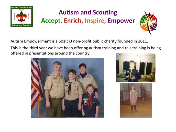 Autism and scouting accept enrich inspire empower1
