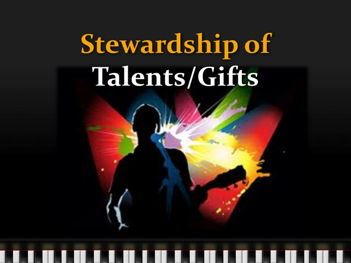 stewardship of talents gifts n.