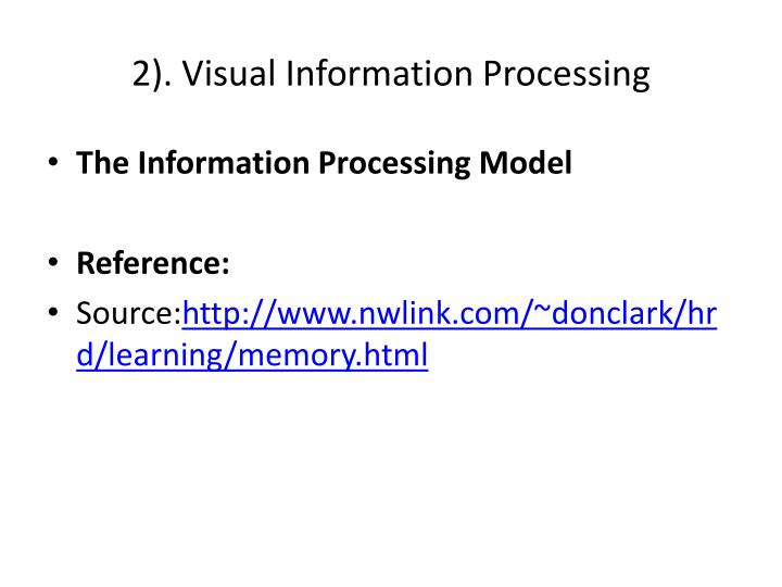2). Visual Information Processing