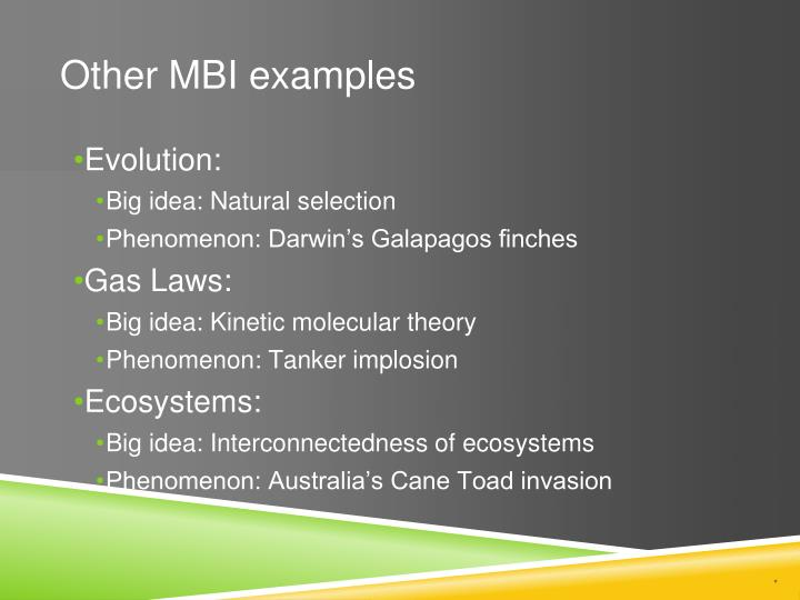 Other MBI examples