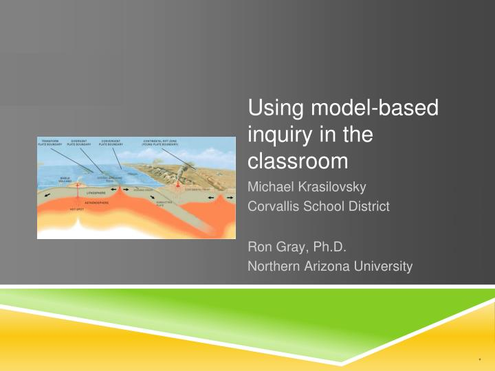 Using model based inquiry in the classroom