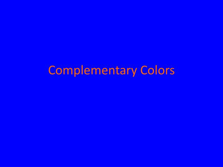 complementary colors n.