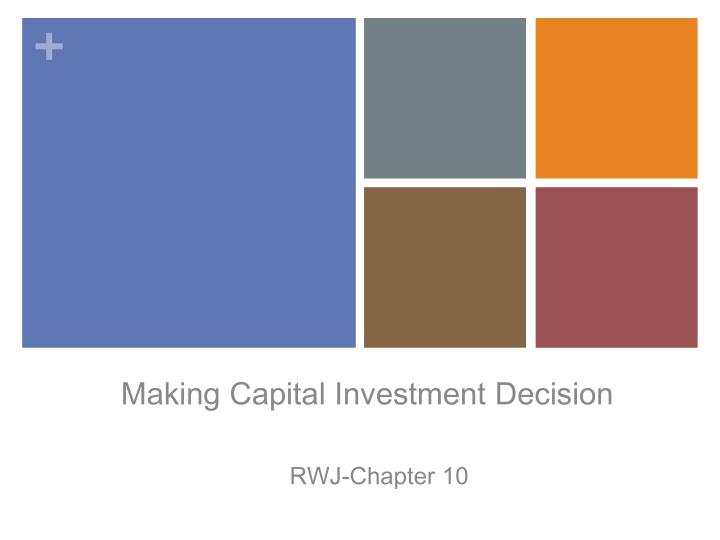making capital investment decision n.