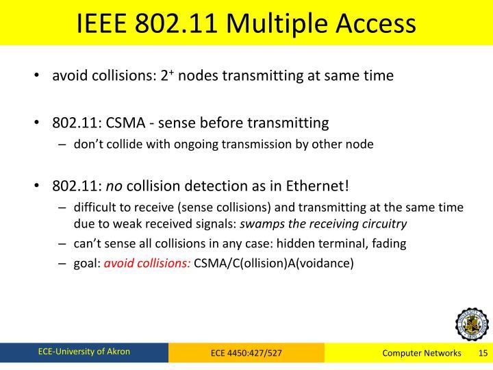 IEEE 802.11 Multiple Access