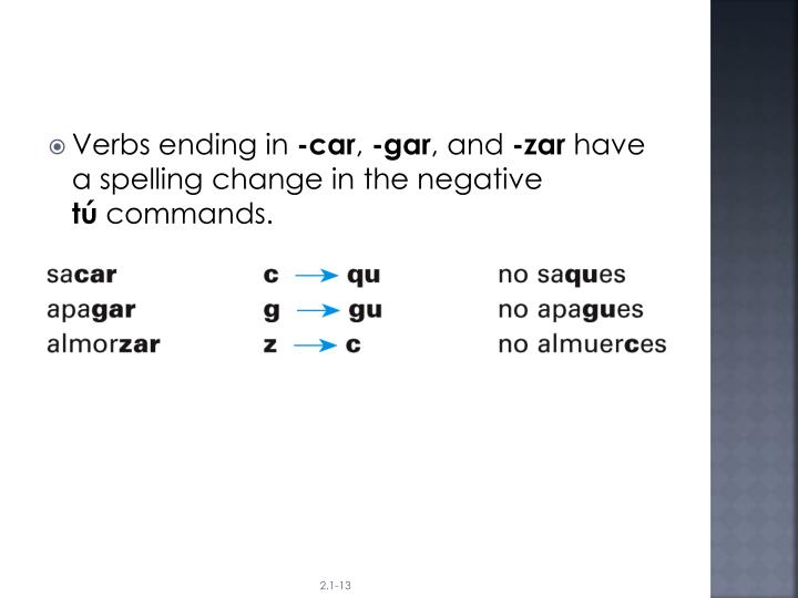 Verbs ending in
