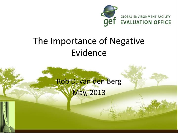 the importance of negative evidence n.