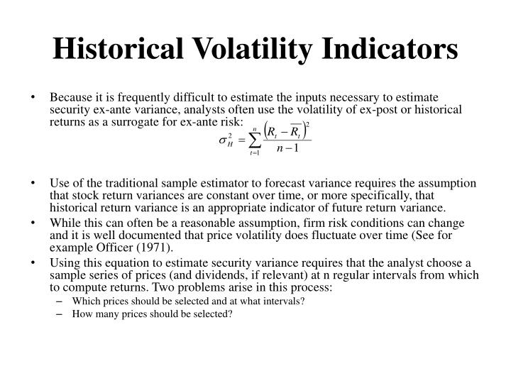 Historical Volatility Indicators