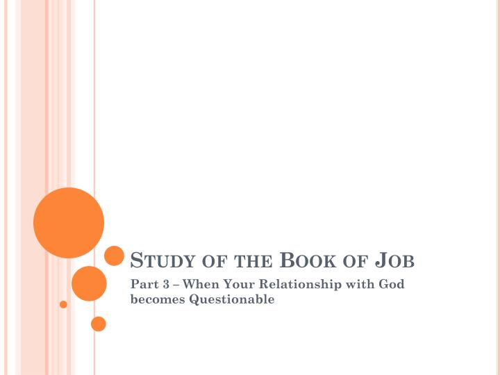 study of the book of job n.