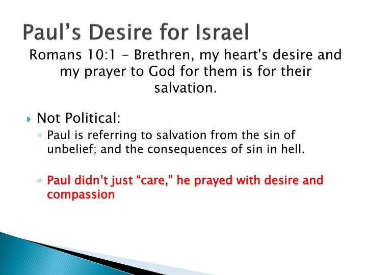Paul s desire for israel