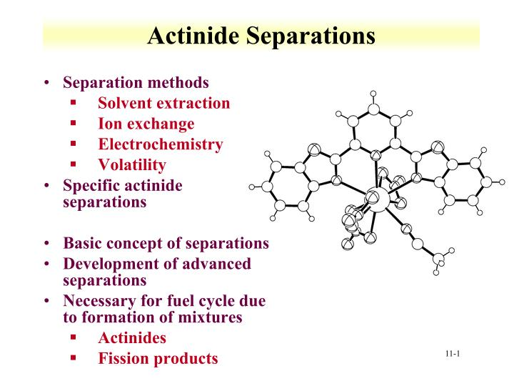 Ppt Actinide Separations Powerpoint Presentation Free Download Id 2280931