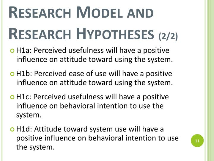 Research Model and