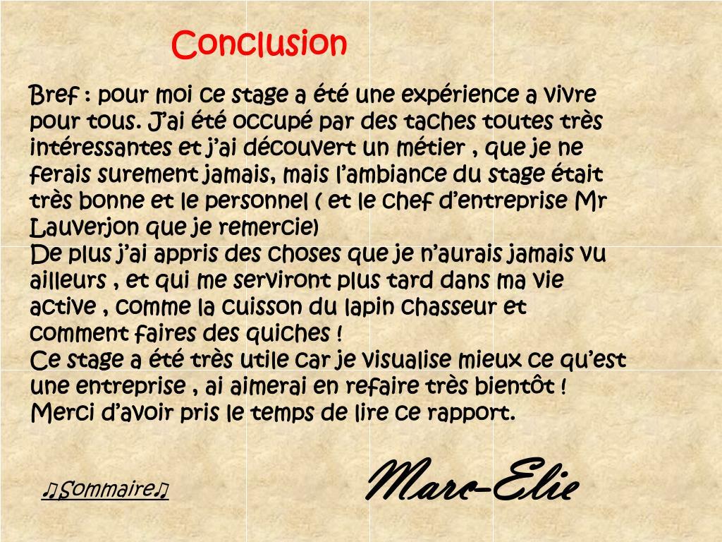 Ppt Rapport De Stage En Entreprise Boucherie Charcuterie Chez Dominique Lauverjon Powerpoint Presentation Id 2281108