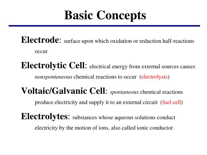 Ppt fundamentals of electrochemistry electrochemistry is the.