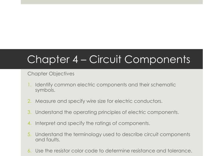 PPT - Chapter 4 – Circuit Components PowerPoint Presentation - ID ...