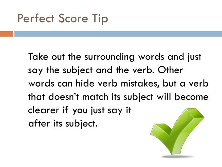 Perfect Score Tip