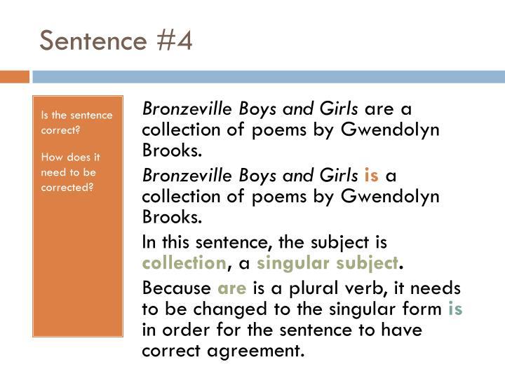 Sentence #4