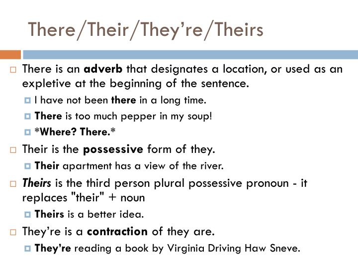 There/Their/They're/Theirs