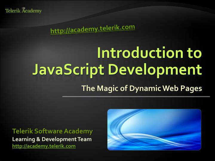 introduction to javascript development n.