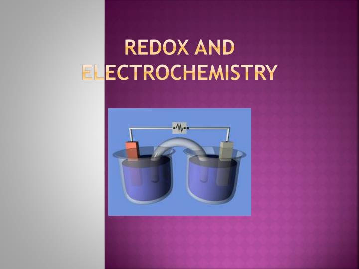 redox and electrochemistry n.