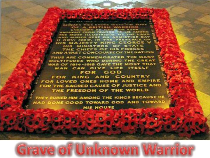 Grave of Unknown Warrior