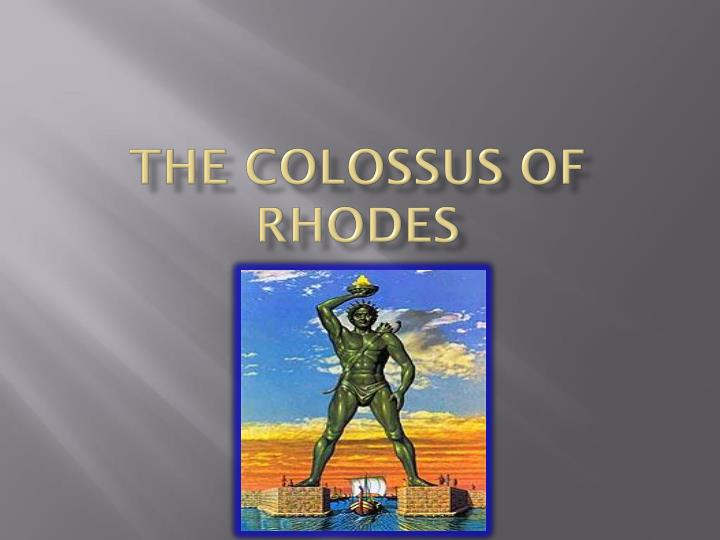 the colossus of rhodes n.