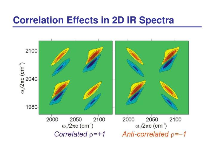 Correlation Effects in 2D IR Spectra