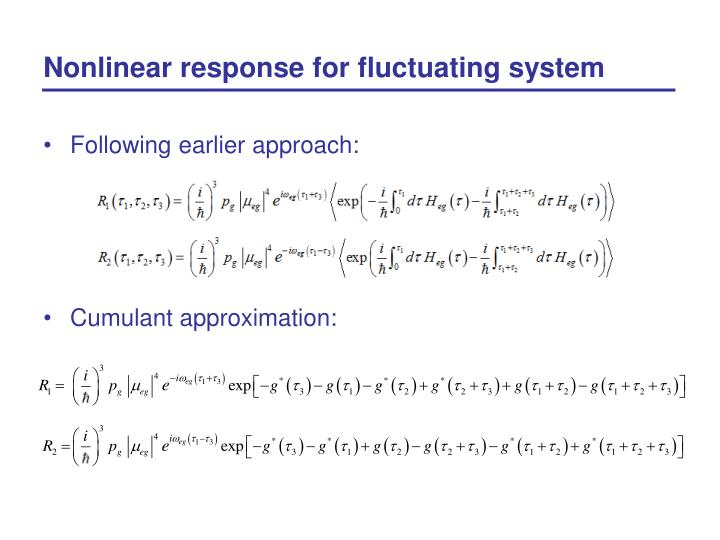 Nonlinear response for fluctuating system